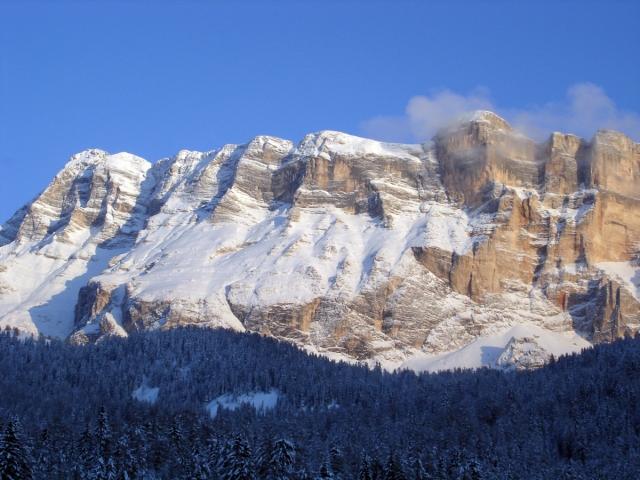 Dalla finestra di casa mia nelle Dolomiti